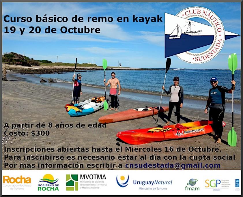 Aprende a remar en kayak con el curso básico del Club Náutico Sudestada en La Paloma