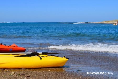 Curso de remo en kayak en La Paloma