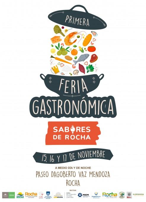 1ra Feria Gastronómica de Sabores de Rocha en el Paseo Dagoberto Vaz Mendoza