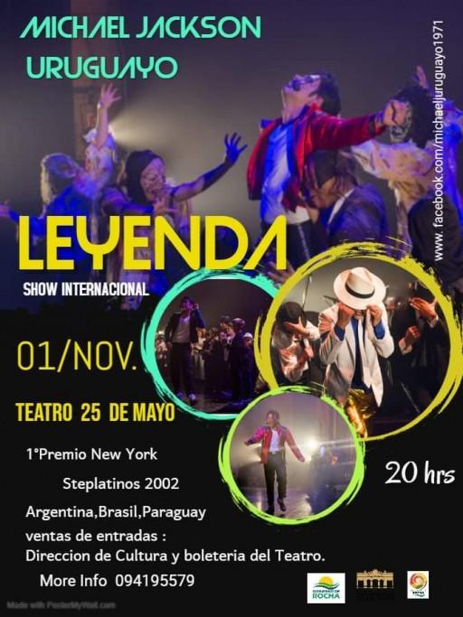 """""""Leyenda"""": homenaje a Michael Jackson, el Rey del Pop, en el Teatro 25 de Mayo de Rocha"""