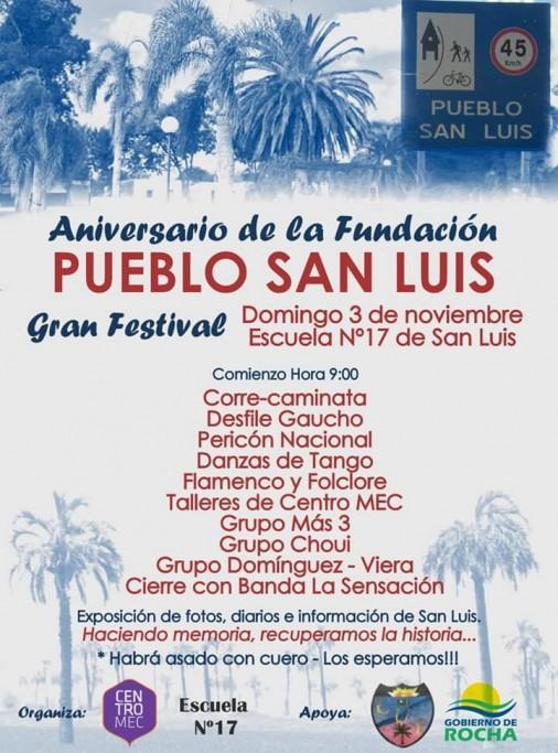 Gran Festival por el Aniversario de la Fundación del Pueblo San Luis