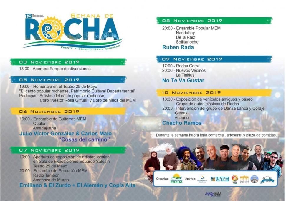 Semana de Rocha, 7 días de música en vivo, ferias, deportes, gastronomía y actividades en la capital departamental