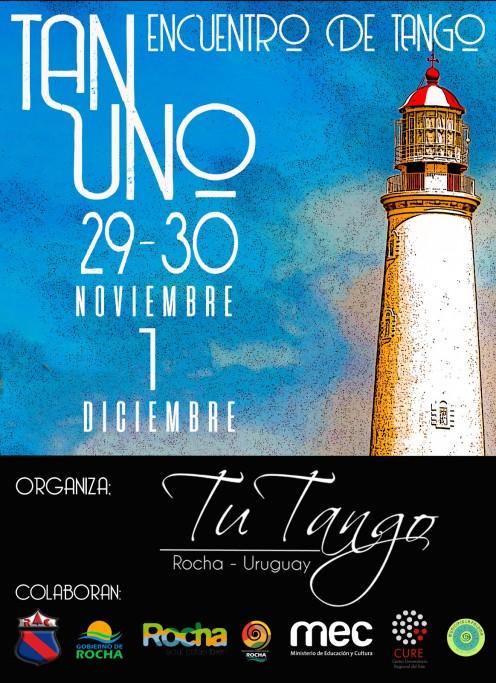 """4to Encuentro de Tango """"TAN UNO"""" en Rocha y La Paloma. Milonga, charlas y talleres"""
