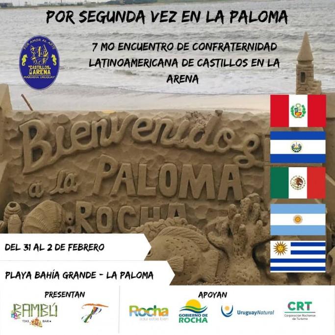 2do Encuentro Latinoamericano de Esculturas de Arena en playa Bahía Grande en La Paloma