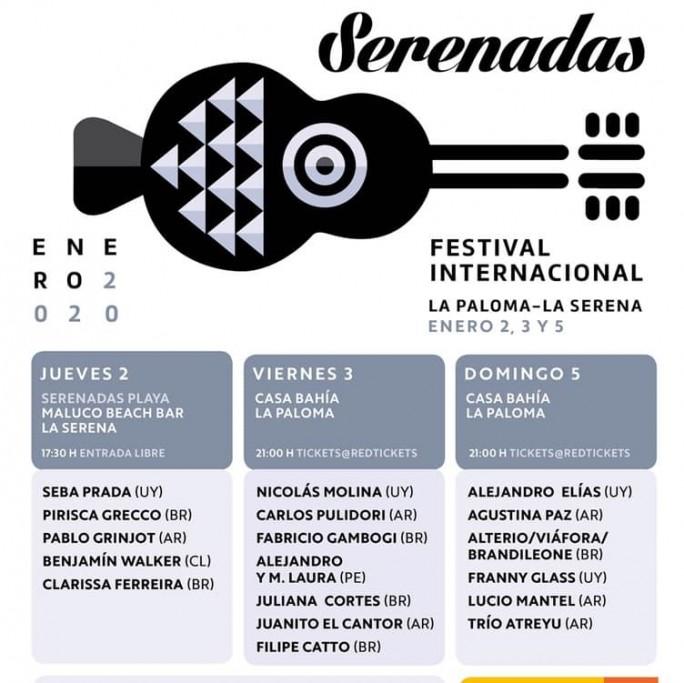 Festival Serenadas 2020 en verano en La Paloma con artistas nacionales e internacionales