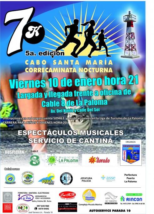 Verano 2020: 5ª Correcaminata Nocturna 7K Cabo Santa María en La Paloma