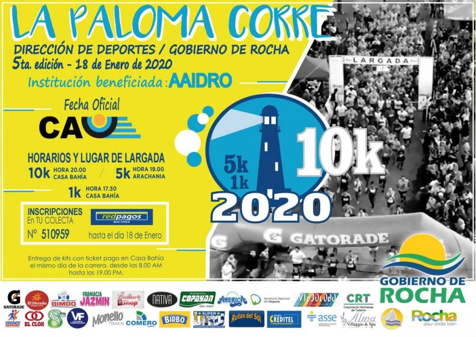 La Paloma Corre 2020: 1K para niños, 5K y 10K para adultos.