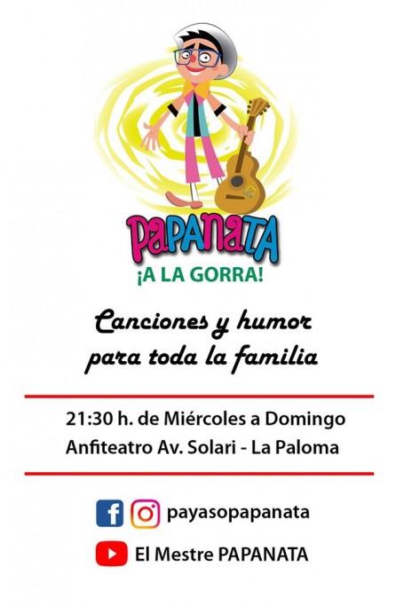 """De miércoles a domingos show del payaso """"Papanata"""" a la gorra en La Paloma"""