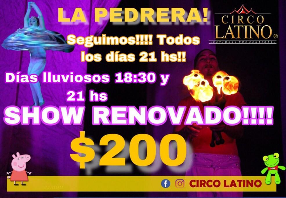 Circo Latino en La Pedrera, con espectáculos todos los días de verano. Fantasía, magia y alegría para toda la familia