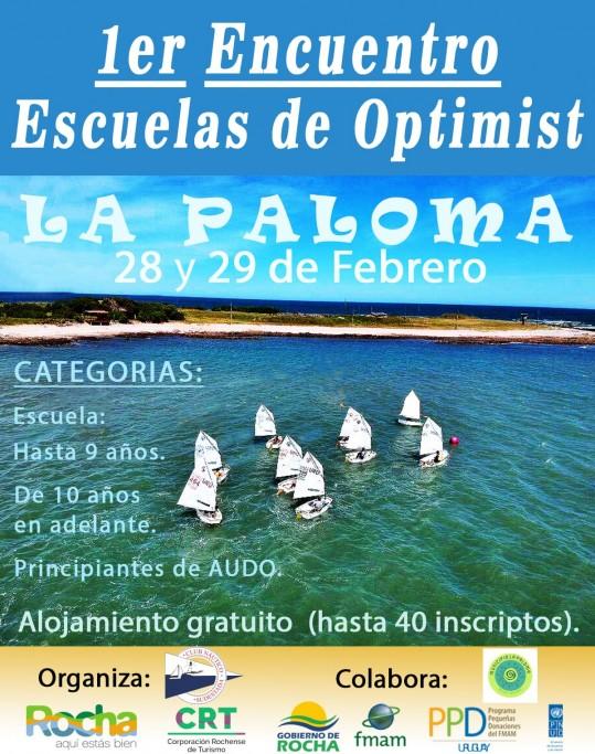 1er Encuentro de Escuelas de Optimist en La Paloma