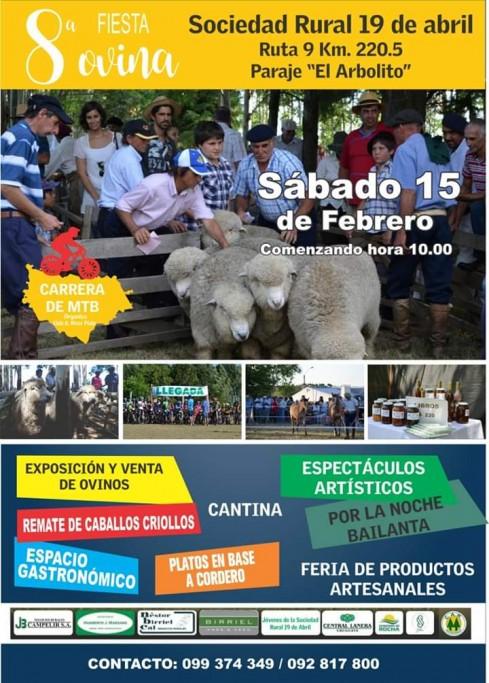 8ª Fiesta ovina 2020 en la Sociedad Rural 19 de Abril, festival tradicional de Rocha