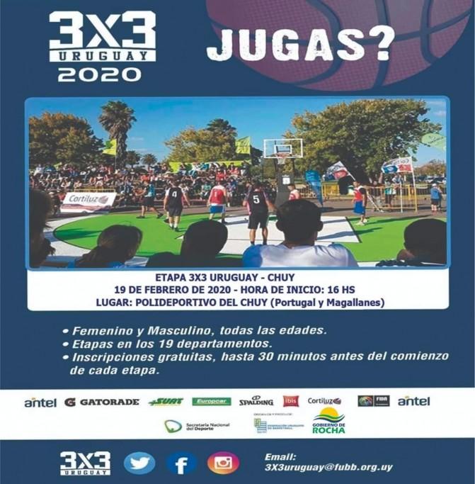 Básquetbol: tour 3x3 Uruguay llega a la ciudad de Chuy