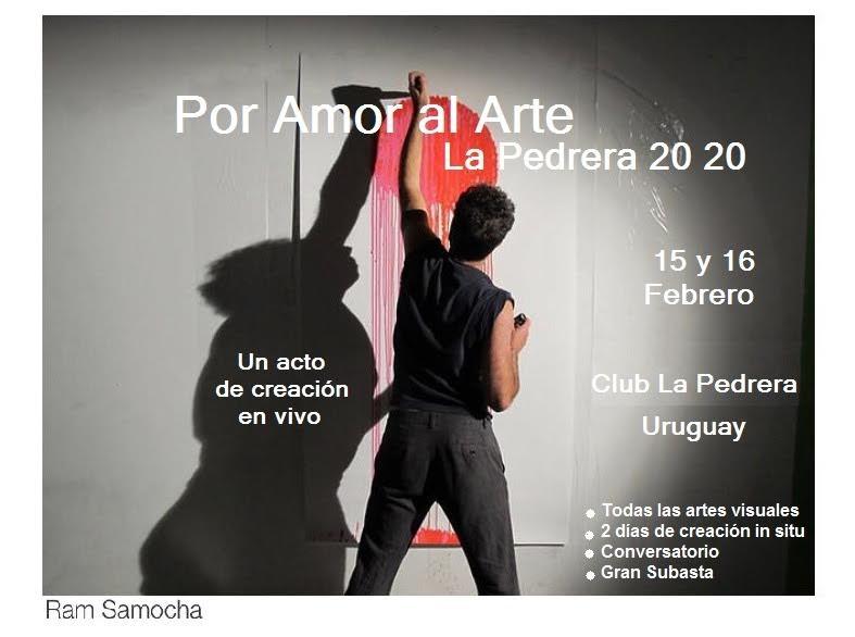 """""""Por amor al arte"""": 2 días de creaciones en vivo, más de 15 artistas, en el Club Social y Deportivo de La Pedrera"""