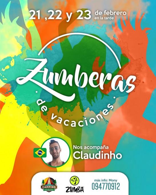 Zumba al aire libre en Camping Resort Punta del Diablo. Más de 40 instructores de Uruguay y Brasil