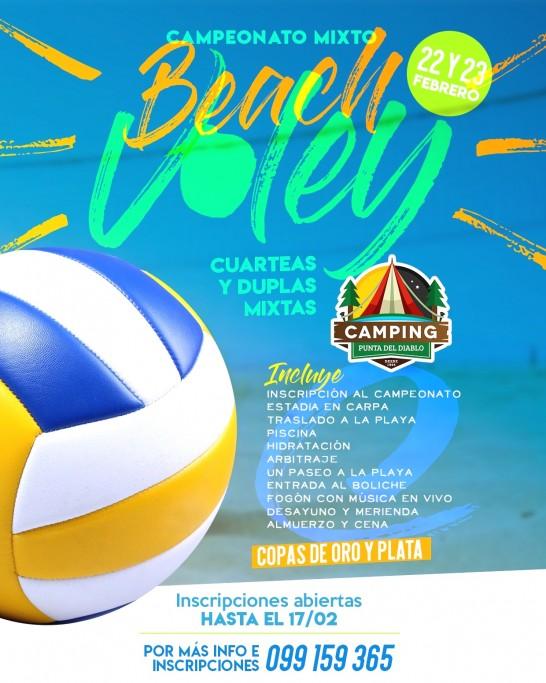Campeonato de beach voley en Carnaval en Camping Resort Punta del Diablo