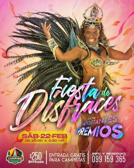 Fiesta de disfraces y baile de Carnaval en Camping Resort Punta del Diablo