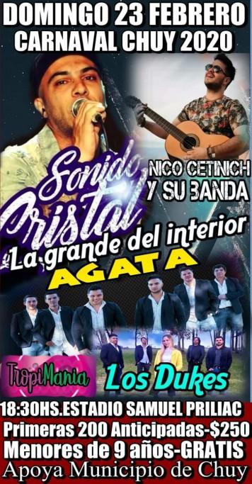 Carnaval de Chuy 2020 en el Estadio Samuel Prilliac con música en vivo