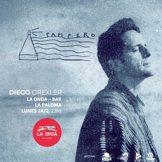 """Diego Drexler presenta su nuevo disco """"Pampero"""" en Bar La Onda en La Paloma"""