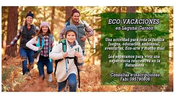 Eco-Vacaciones en la Laguna Garzón, con actividades en la naturaleza para niños y toda la familia