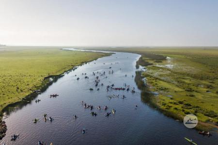 Encuentro de canotaje en Barra de Valizas
