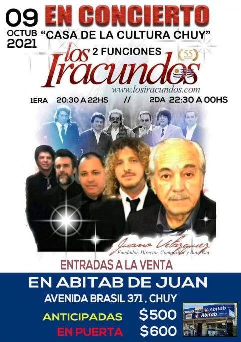 La leyenda de América: Los Iracundos en concierto, en la Casa de la Cultura de Chuy, 2 funciones