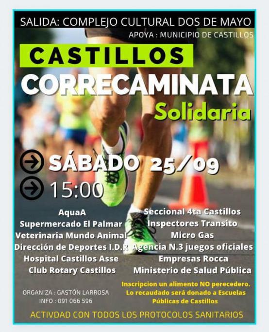 Correcaminata solidaria en Castillos, a beneficio de la Escuelas Públicas