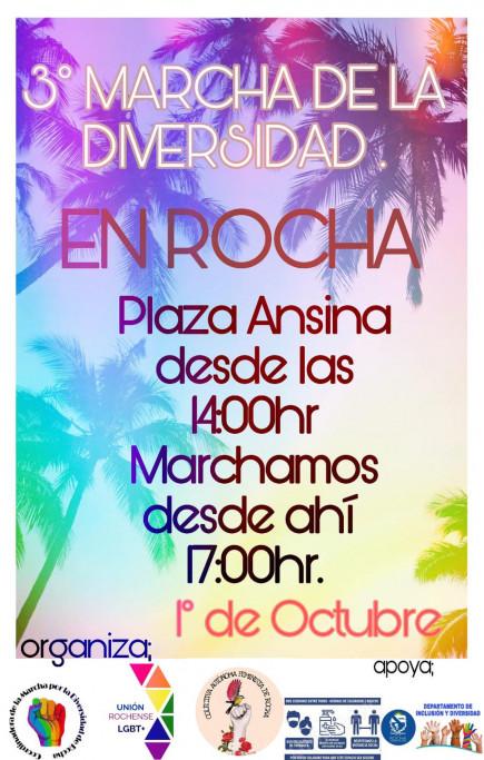 3ª Marcha de la Diversidad en Rocha, para celebrar y luchar por más derechos
