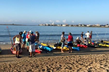 4to encuentro de pesca en kayak en La Paloma