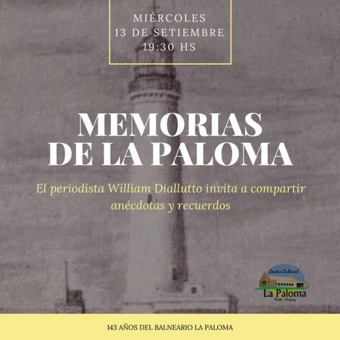"""""""Memorias de La Paloma"""" con William Diallutto en el Centro Cultural"""