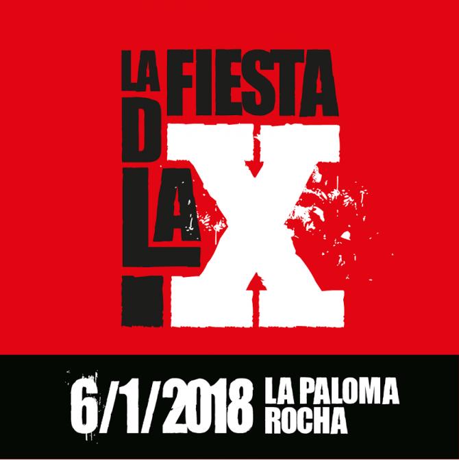 ¡Es hoy! Fiesta de la X a La Paloma