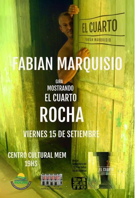 """Fabian Marquisio presenta su disco """"El Cuarto"""" en Rocha"""