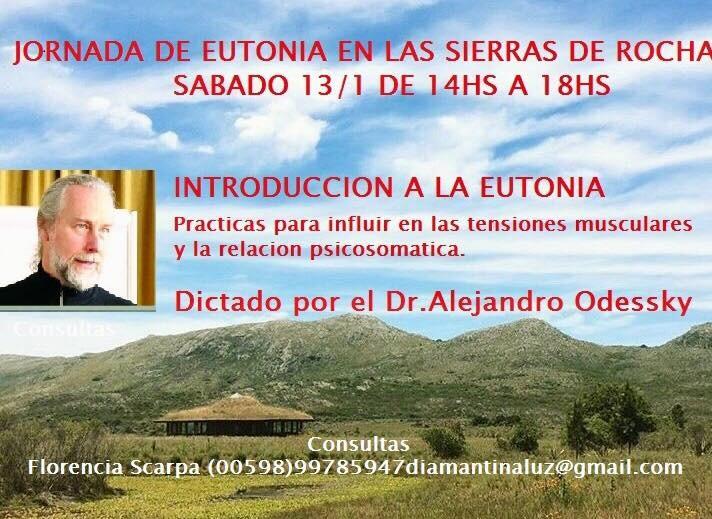 Jornada Introducción a la Eutonía en las Sierras de Rocha