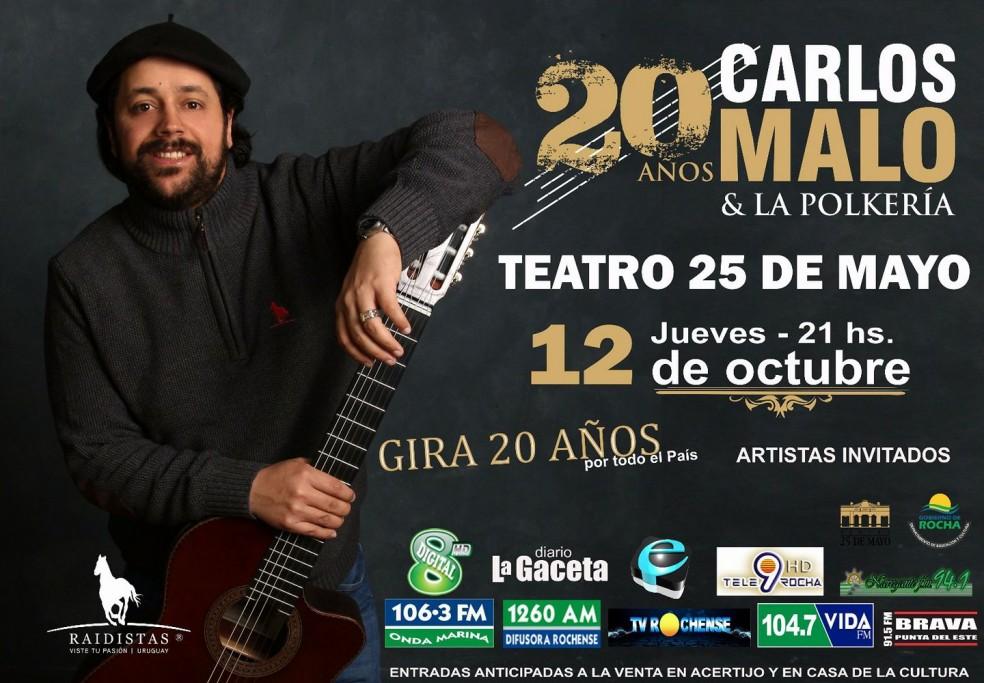 Carlos Malo y La Polkería festejan sus 20 años de trayectoria en el Teatro 25 de Mayo de Rocha