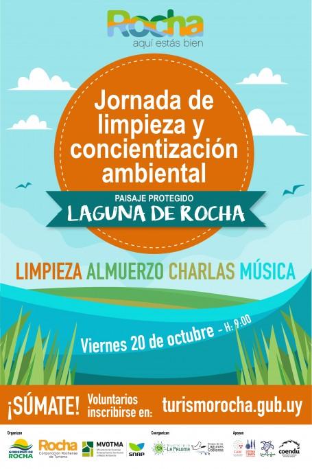 Jornada de limpieza y concientización ambiental en la Laguna de Rocha. ¡Súmate!