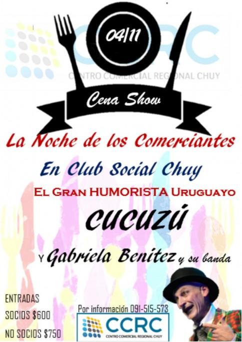 """Cena Show en el Club Social de Chuy """"Cucuzú"""" y Gabriela Benitez"""