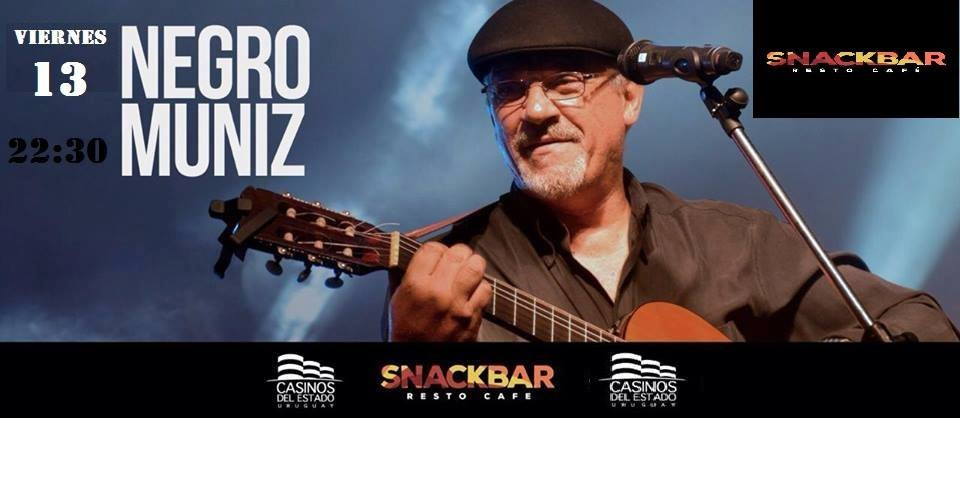 """Show de Fernando """"Negro"""" Muniz en el Snackbar del Casino de Rocha"""