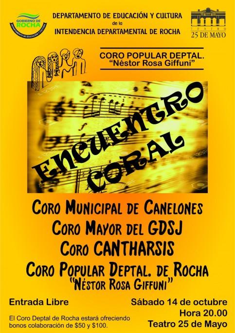 Encuentro de Coros en el Teatro 25 de Mayo de Rocha