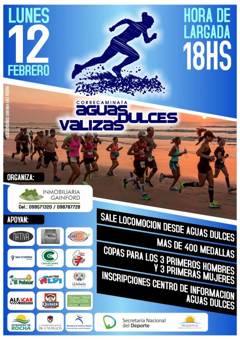 Correcaminata 7K Barra de Valizas - Aguas Dulces 2018