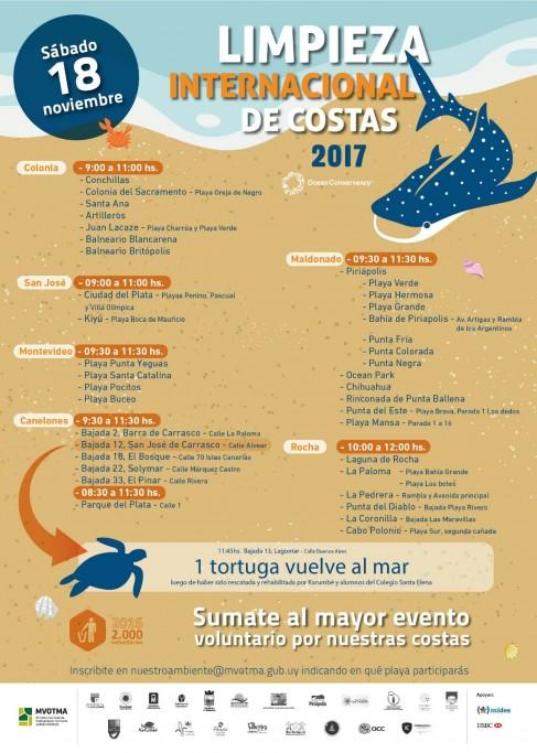 Jornada de limpieza internacional de costas en Rocha