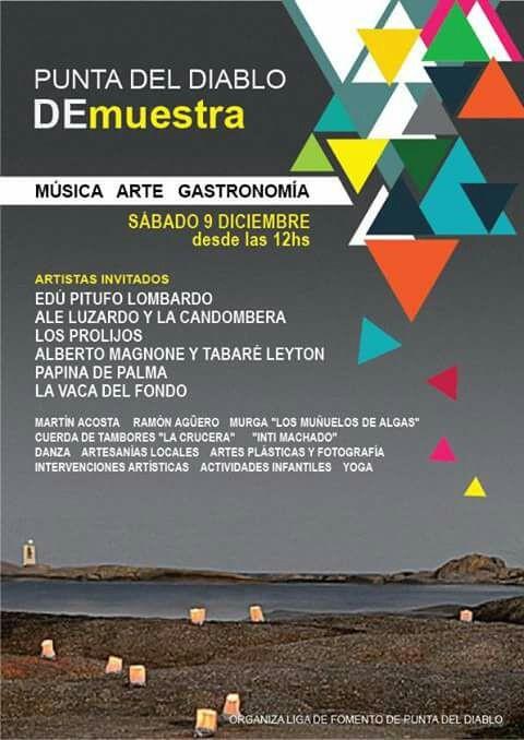 """""""Punta del Diablo DeMuestra"""": música, arte y gastronomía"""