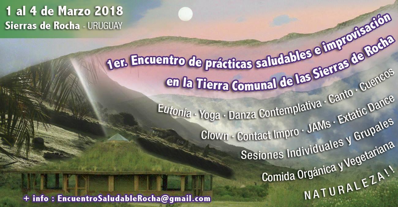 1er Encuentro de prácticas saludables e improvisación en las Sierras de Rocha