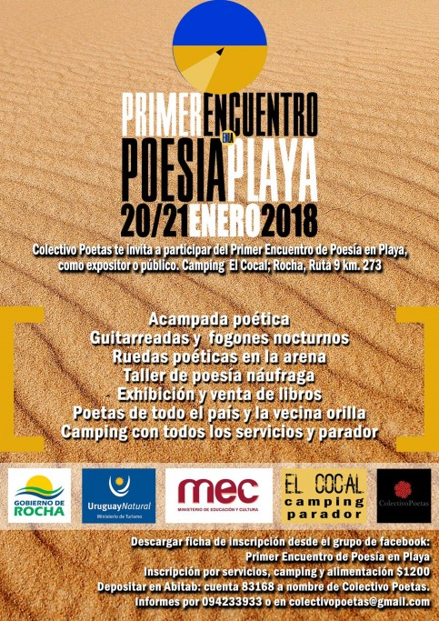 1er Encuentro de Poesía en la Playa en El Cocal en Los Moros
