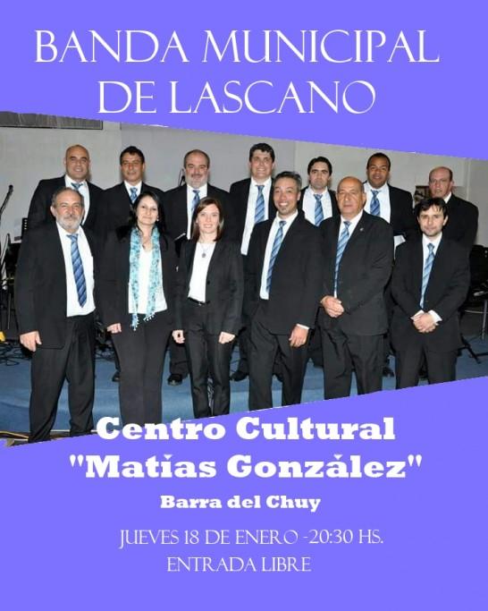 Show de la Banda Municipal de Lascano en Barra de Chuy