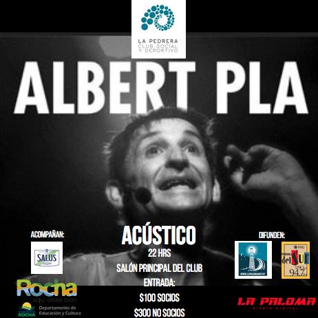 Show íntimo y acústico con Albert Pla en el Club Social y Deportivo de La Pedrera