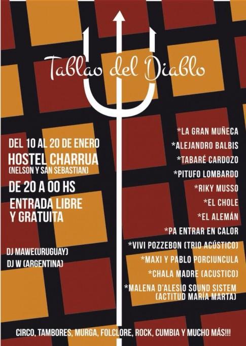 Tablao del Diablo: Riki Musso, Maderfanky y artistas locales en Punta del Diablo