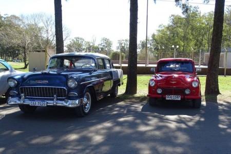 Exposición de autos clásicos en La Paloma