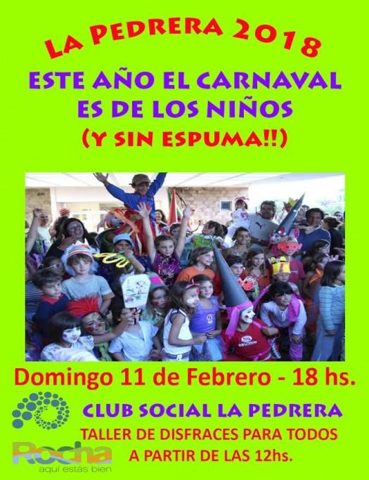 Este año el Carnaval de La Pedrera es de lo niños