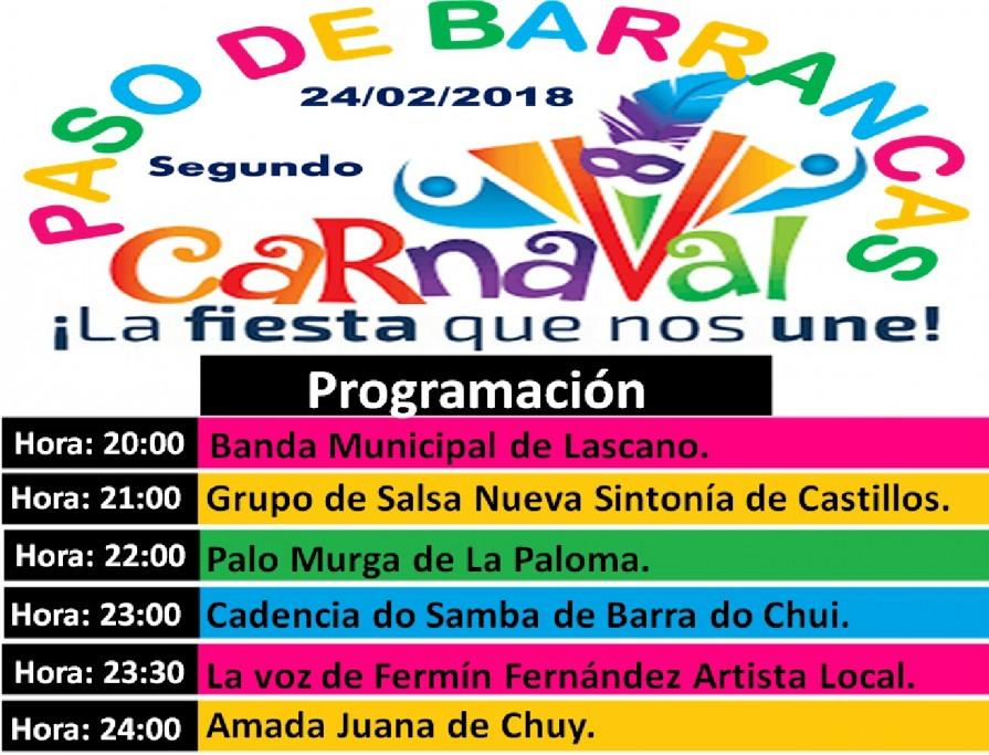 Carnaval en Paso de Barrancas, a 12 km de San Luis