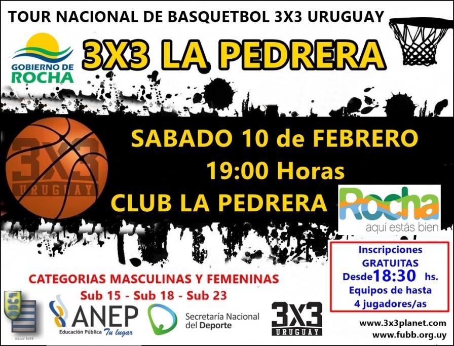 Tour Nacional de Basquetbol 3x3 Uruguay en La Pedrera