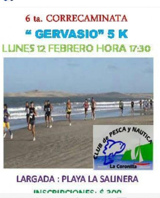 """6ta Correcaminata 5K """"Gervasio"""" en La Coronilla"""